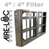 Double Flat-Bank Housing 4/4 Filter