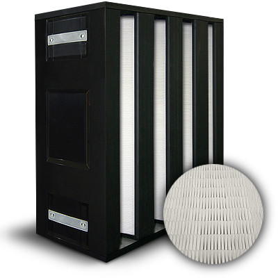 BlackBOX 4 V-Cell ASHRAE 85% MERV 13/F7 Plastic Frame Box Filter Gasket Air Entry (Up Stream) 18x24x12