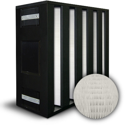 BlackBOX 5 V-Cell ASHRAE 85% MERV 13/F7 Plastic Frame Box Filter Gasket Air Entry/Exit (Both Sides) 20x24x12