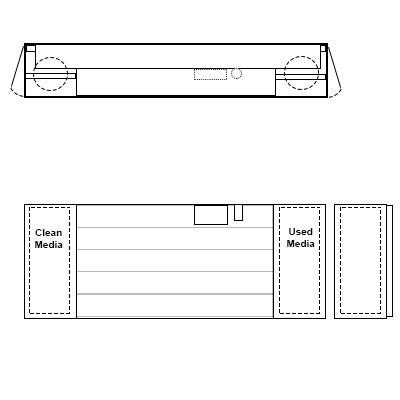 Aire-Loc Horizontal AutoRoll 1 Roll Media Inside Drive 6-Ft High 110-Inch Wide