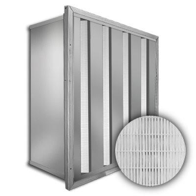Sure-Cell Stainless Steel Frame 4 V-Cell ASHRAE 65% Single Header 24x24x12