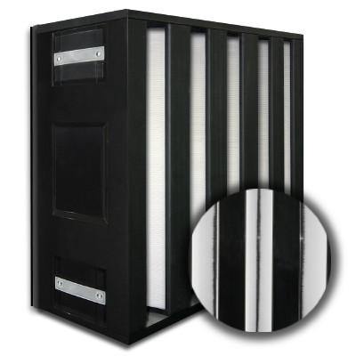 24x24x12 HighCell Turbine Black Box 5 V-Cell ASHRAE 95% Dual Phase Gas Turbine Filter Plastic Frame Box Style Gasket Down Stream