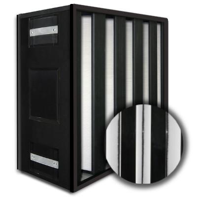 24x24x12 HighCell Turbine Black Box 5 V-Cell ASHRAE 95% Dual Phase Gas Turbine Filter Plastic Frame Box Style Gasket Both Sides