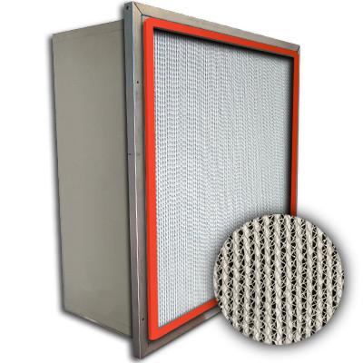Puracel HT ASHRAE 95% 500 Degree Hi-Temp Box Filter w/Header Up-Stream Gasket 24x24x12