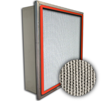 Puracel HT ASHRAE 95% 750 Degree Hi-Temp Box Filter w/Header Up-Stream Gasket 12x24x6