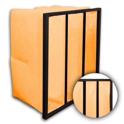 Flo-Pak 3 Pocket ASHRAE 65% (MERV 11) Fiberglass Oil Mist Bag Filter 24x12x22