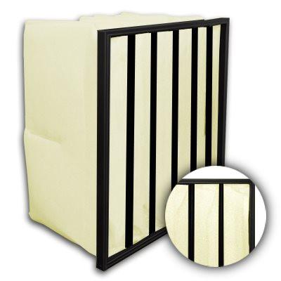 Flo-Pak 6 Pocket ASHRAE 95% (MERV 14) Fiberglass Oil Mist Bag Filter 12x24x22