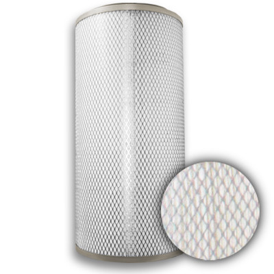 """12 3/4"""" x 30"""" Spiral-Flo 80/20 Polyester/Cellulose Standard Cylindrical w/Galvanized Liner/ End Cap"""