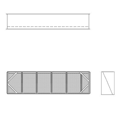 Aire-Loc Diffuser Section for Flat Bank Housing 1 1/2 High 5-1/2 Wide