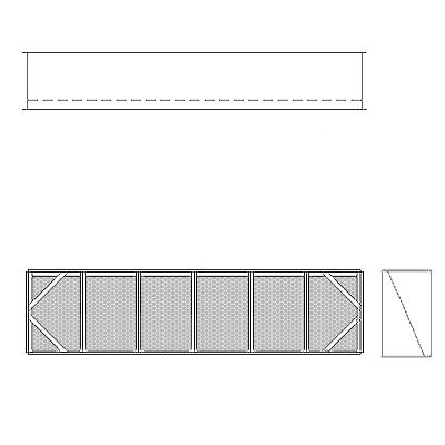 Aire-Loc Diffuser Section for V-Bank Housing 1 1/2 High 6 Wide