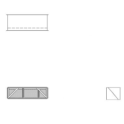 Aire-Loc Diffuser Section for Double Flat Bank Housing 1/2 High 2-1/2 Wide