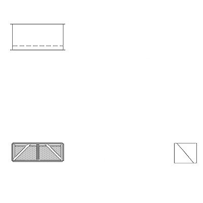Aire-Loc Diffuser Section for Flat Bank Housing 1/2 High 2 Wide