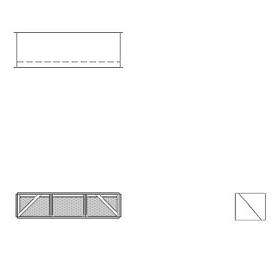 Aire-Loc Diffuser Section for Double Flat Bank Housing 1/2 High 3 Wide