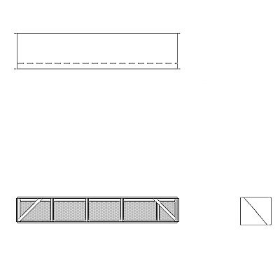 Aire-Loc Diffuser Section for Double Flat Bank Housing 1/2 High 4-1/2 Wide