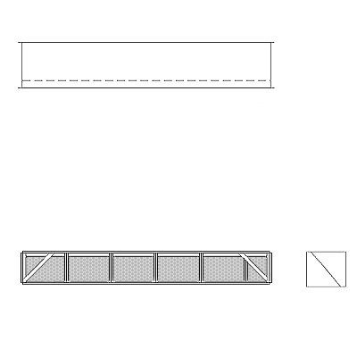 Aire-Loc Diffuser Section for Double Flat Bank Housing 1/2 High 5-1/2 Wide