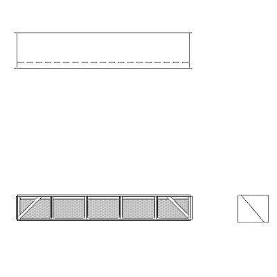 Aire-Loc Diffuser Section for Standard Housing 1/2 High 5 Wide