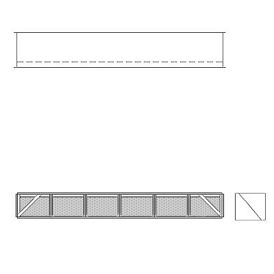 Aire-Loc Diffuser Section for Double Flat Bank Housing 1/2 High 6 Wide