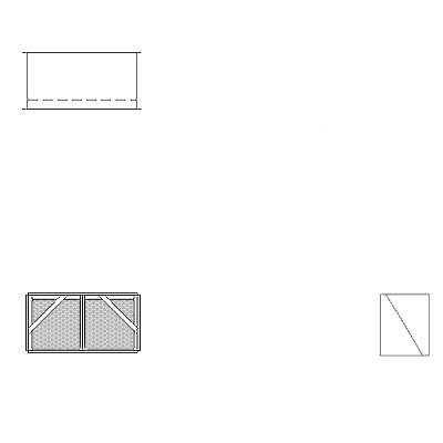 Aire-Loc Diffuser Section for Double Flat Bank Housing 1 High 2 Wide