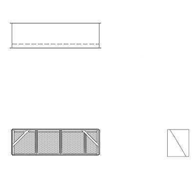 Aire-Loc Diffuser Section for Double Flat Bank Housing 1 High 3-1/2 Wide