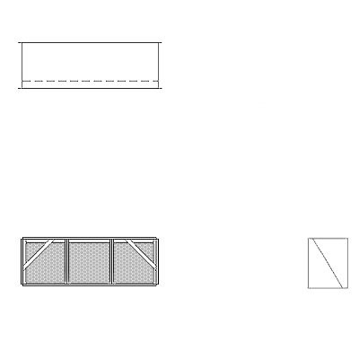 Aire-Loc Diffuser Section for Standard Housing 1 High 3 Wide