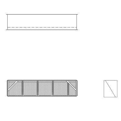Aire-Loc Diffuser Section for Double Flat Bank Housing 1 High 4-1/2 Wide