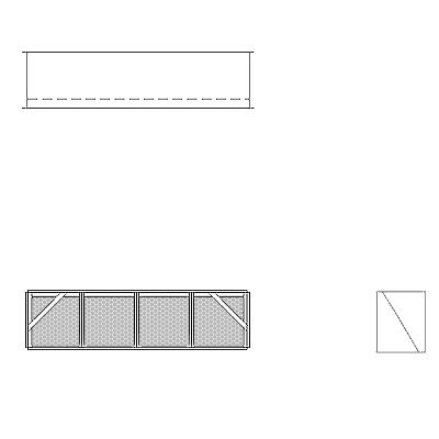 Aire-Loc Diffuser Section for V-Bank Housing 1 High 4 Wide