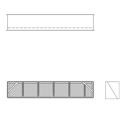 Aire-Loc Diffuser Section for V-Bank Housing 1 High 5-1/2 Wide