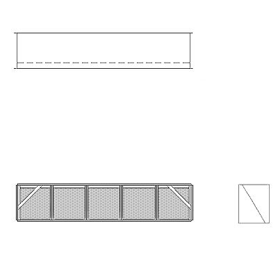 Aire-Loc Diffuser Section for Flat Bank Housing 1 High 5 Wide