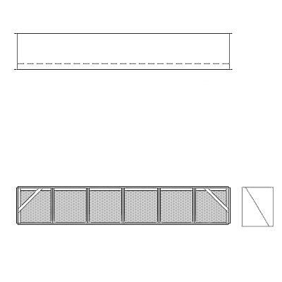 Aire-Loc Diffuser Section for V-Bank Housing 1 High 6 Wide