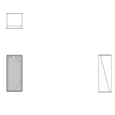 Aire-Loc Diffuser Section for Flat Bank Housing 2 1/2 High 1 Wide