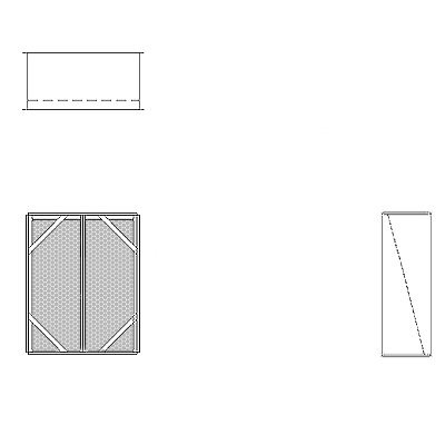 Aire-Loc Diffuser Section for Flat Bank Housing 2 1/2 High 2 Wide