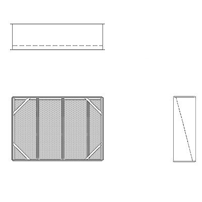 Aire-Loc Diffuser Section for Double Flat Bank Housing 2 1/2 High 3-1/2 Wide
