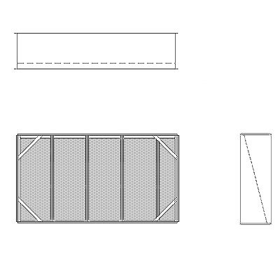 Aire-Loc Diffuser Section for Flat Bank Housing 2 1/2 High 4-1/2 Wide