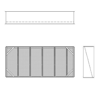 Aire-Loc Diffuser Section for Double Flat Bank Housing 2 1/2 High 5-1/2 Wide