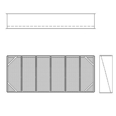 Aire-Loc Diffuser Section for V-Bank Housing 2 1/2 High 6 Wide