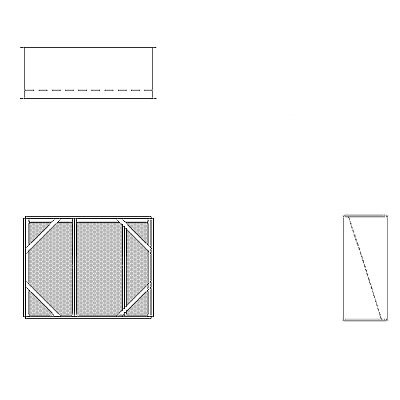 Aire-Loc Diffuser Section for V-Bank Housing 2 High 2-1/2 Wide