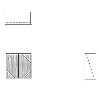 Aire-Loc Diffuser Section for Flat Bank Housing 2 High 2 Wide