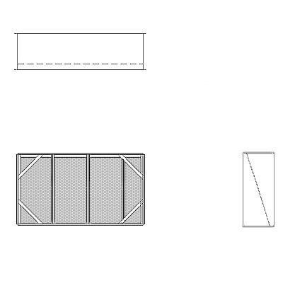 Aire-Loc Diffuser Section for V-Bank Housing 2 High 3-1/2 Wide