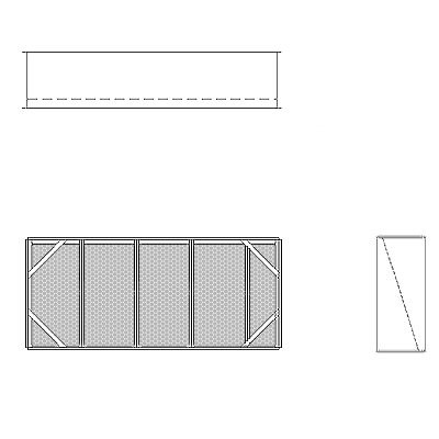 Aire-Loc Diffuser Section for Double Flat Bank Housing 2 High 4-1/2 Wide