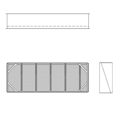 Aire-Loc Diffuser Section for V-Bank Housing 2 High 5-1/2 Wide