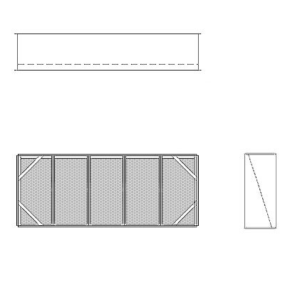 Aire-Loc Diffuser Section for Double Flat Bank Housing 2 High 5 Wide