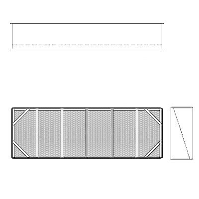Aire-Loc Diffuser Section for Double Flat Bank Housing 2 High 6 Wide