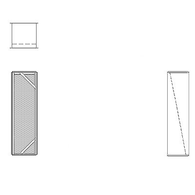 Aire-Loc Diffuser Section for Double Flat Bank Housing 3 1/2 High 1 Wide