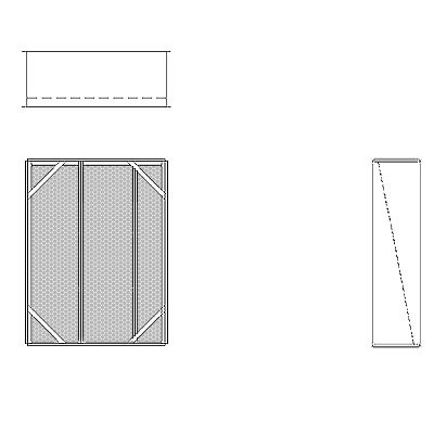 Aire-Loc Diffuser Section for Double Flat Bank Housing 3 1/2 High 2-1/2 Wide