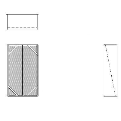 Aire-Loc Diffuser Section for Double Flat Bank Housing 3 1/2 High 2 Wide