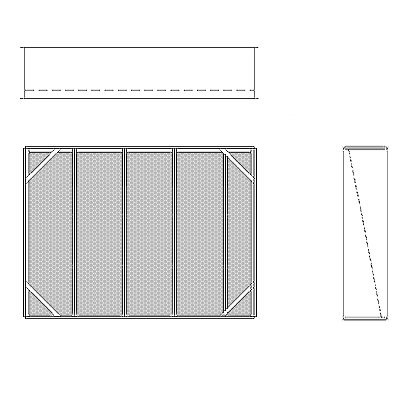 Aire-Loc Diffuser Section for Double Flat Bank Housing 3 1/2 High 4-1/2 Wide