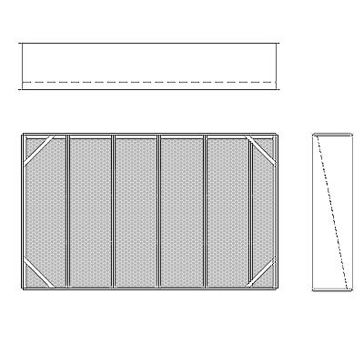 Aire-Loc Diffuser Section for Double Flat Bank Housing 3 1/2 High 5-1/2 Wide