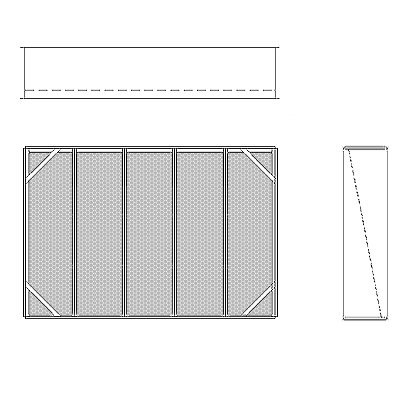 Aire-Loc Diffuser Section for V-Bank Housing 3 1/2 High 5 Wide