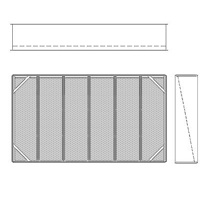 Aire-Loc Diffuser Section for Double Flat Bank Housing 3 1/2 High 6 Wide