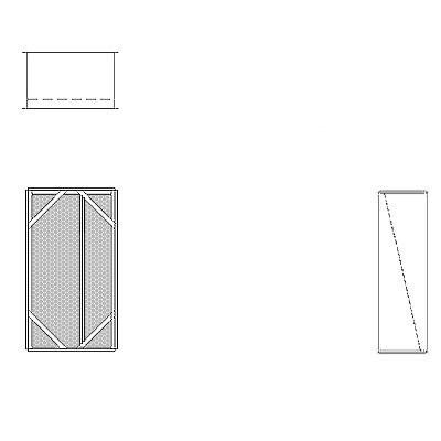 Aire-Loc Diffuser Section for Flat Bank Housing 3 High 1-1/2 Wide